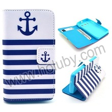 Cross Texture Flip Card Holder TPU+PU Leather Case for HuaWei Ascend Y330