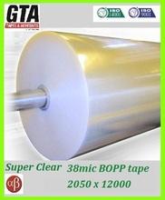 BOX CLOSING 38mic super clear jumbo for tape machine