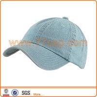 Baseball blank washed jeans cap size adjustable