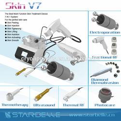 portable rf led Skin Tightening maquina peeling ultrasonico-Skin V7
