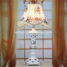Peint à la main en cristal de table de chevet fabricants de lampes