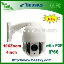 2014 High Quality Intelligent 4inch MINI IR 10X High Speed Dome Camera PTZ Camera mobile ptz camera