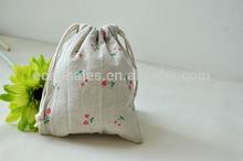 Small fresh cherries handmade jewelry storage tote bag Cosmetic bag packing sBeam port backpack drawstring student backpack bag