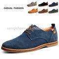 Tamaño de nuevo 38-47 2014 gamuza zapatos de cuero genuino