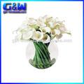 Decorativo flores de seda de la cala arreglo floral Artificial tradicional flores