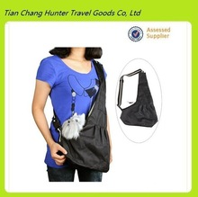 Black Pet Dog strap sling shoulder pet bag (Model H3263)