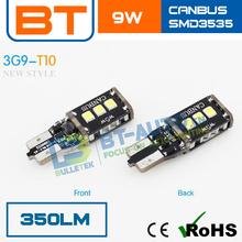 Error Free 3G15SMD3535 9W t10 5w5 Canbus Car LED Auto Bulb