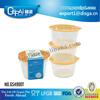 resuable transparent food grade plastic bowl