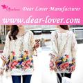 china wholesale roupa casual chiffon blusa elegante design 2014