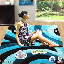 Safavieh Shag Collection 3D brand floor carpet in color aquamarine blue