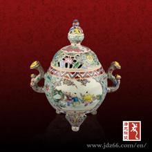 Exquisite Kangxi Dynasty style ceramic incense burner censer