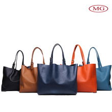 Luxury ladies 5 color Genuine leather tote bag ,women handbag