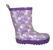 Western clear girls fashion rubber rain boots