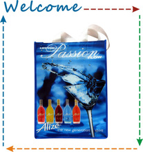 Wine PP Shopping bag non woven tote bag