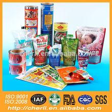 gravure printing and laminated plastic flexible packaging pet food plastic film roll