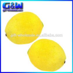 Decorative Plastic Fake Lemons Fruit Artificial Lemon - Factory-directly