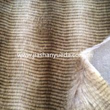 Stripe fake fur, Stripe Print Long pile fake fur, stripe high pile faux fur