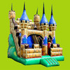 cheap cartoon bouncer inflatable bounce house with slide for kids and adults