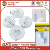 Plastic PVC suction hook suction cup clip