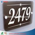 Acrílica branca moderna casa de vidro de sinal de número / Plexiglass endereço placa