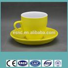 ceramic 8oz cup&saucer /personalized tea cup&saucer /color glazed coffee cup&saucer