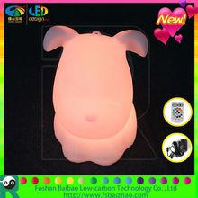 animated plastic stuffed toy led dog model