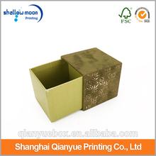 Luxury and popular sliding packaging box ,velvet jewelry box