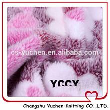 coral fleece fabric printing