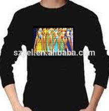 2014 LED Light Up t shirts,Sound Activated EL T-shirts,Custom Design EL T-shirts
