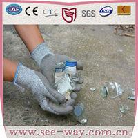 Seeway Anti Cut HPPE Fiber Glass Handling Gloves