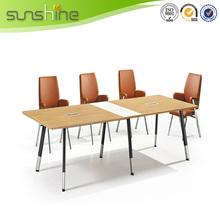 2015 Peru Market Melamine Aluminium Leg 10 Person Conference Table