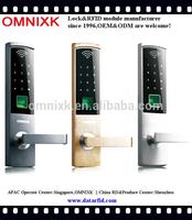 Digital password lock hotel office door handle lock fingerprint P9