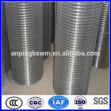 Galvanized China supply welded wire mesh size chart