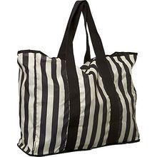 Unique Design Fashion Durable Stripes and Dots Print Foldable Striped Travelling Bag