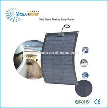 USA Sunpower 30W Semi Flexible Solar Panel for europen Make in China low price per watt