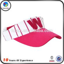 cotton sun visor elastic back