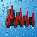 2 de pulgada de pvc de la mano larga de agua la válvula de bola piezas de fontanería
