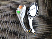 Rear view mirror with Turn Signal light For Motorcycle Scooter Magnum 150RL-SILVER