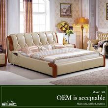 modern wall wood double design sofa cum bed 908#