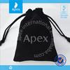 Hot stamping printing velvet black jewelry storage bag, gift bag,promotional bag