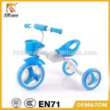 hebei tianshun foldable trike/ride on pedal trike