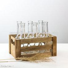 Vintage Wood Drinking Set Rustic Crate