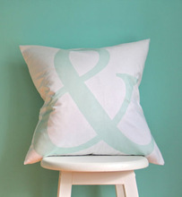 mint cute Decorative fancy Letter ampersand cushion cover