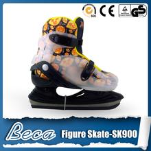 2014 latest adjustable hardboot ice hockey skates flashing shoes for adults