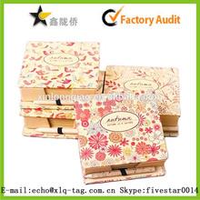 2014 various style flower printing kraft paper packing box