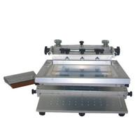 Cheap small steel manual SMT high precision screen printer / screen printing machine