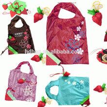 customized popular lovely fruit cheap eco reusable foldable shopping bag
