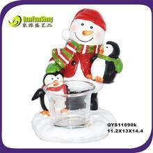 china christmas snowman resin craft