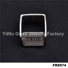 2015 simple design finger rings true love waits rings
