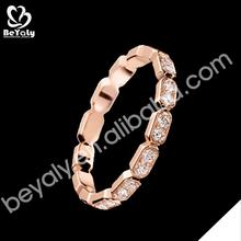 2014 new model cubic zircon for girls 18 karat gold rings